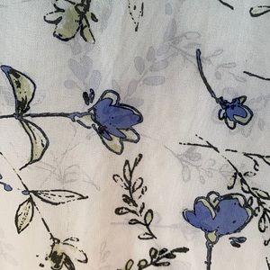 Rectangular Vintage Floral Scarf